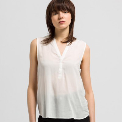ARMEDAGELS TENCEL BLOUSE WHITE