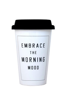 TAKE AWAY MUG EMBRACE THE MORNING