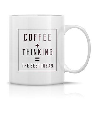 MUG COFFEE+THINKING
